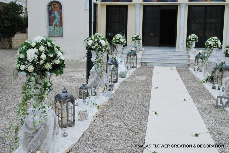 eb290c2814ae Στολισμός γάμου με λευκές ορτανσίες - Ανθοπωλεια Δριμάλας