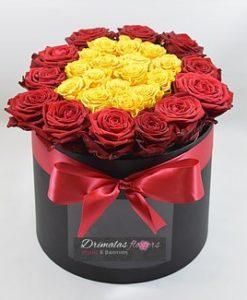 τριανταφυλλα σε κουτι αθηνα