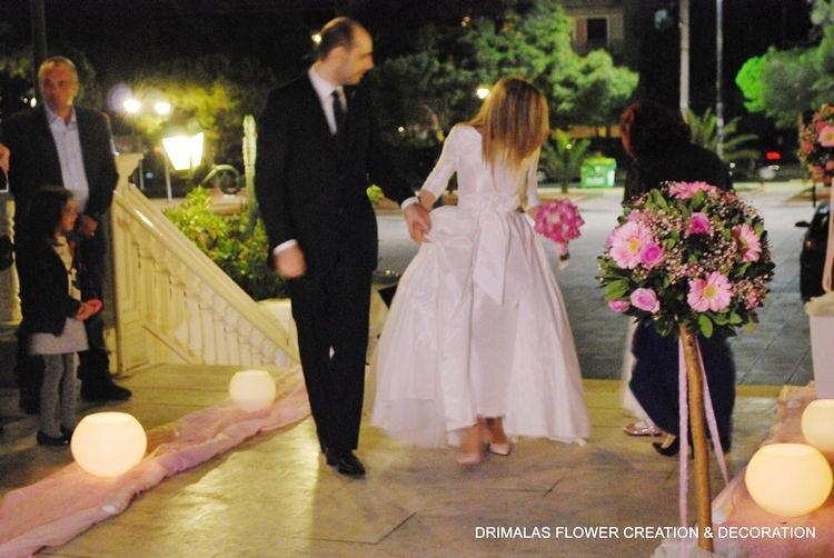 a0ed25a31160 Στολισμός γάμου Αγιος Νικόλαος Γλυφάδα - Ανθοπωλεια Δριμάλας