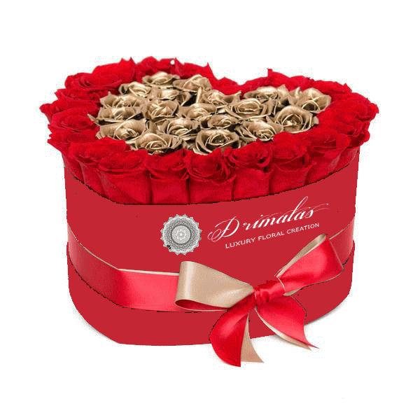 τριαντάφυλλα σε κουτί καρδιά αθηνα