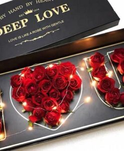 Forever roses skroutz,gift,window,wood,luxurybouquet,rose