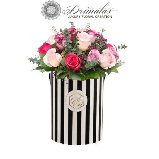 λουλούδια σε κουτί, λουλουδια σε κουτι αθηνα, λουλούδια σε κουτί δώρου