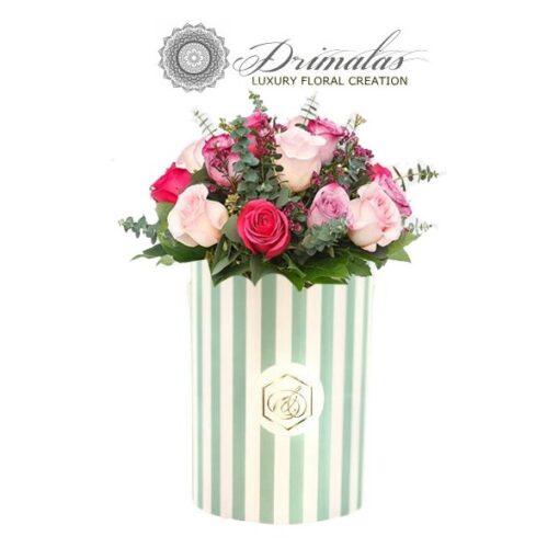 Αποστολη λουλουδιων τριανταφυλλα σε κουτί,λουλούδια σε κουτί, λουλουδια σε κουτι αθηνα